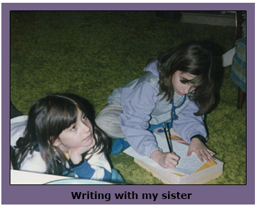 Writing with my sister